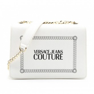 Shoulder Bag In White Leather With Label