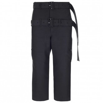 Straight Pants With Double Strap