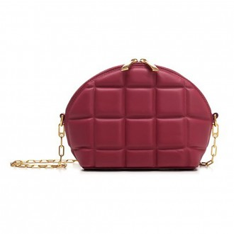 Mini Bag In Red Quilted Tassel