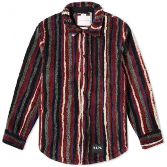 STRIPE FLEECE OVERSHIRT