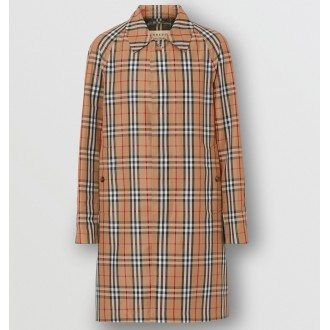Vintage Check Car Coat
