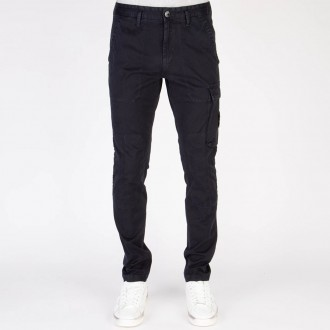 Cargo Pants Old Dye Treatment Navy