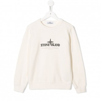 White Sweatshirt With Kids Logo