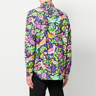 floral bird print shirt
