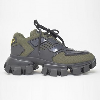 Sneakers In Green Technical Fabric