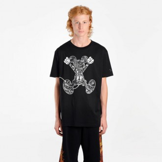 MEN'S BLACK MICKEY MOUSE JUMPING T-SHIRT
