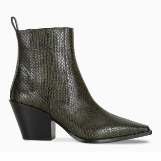 Kate Ankle Boot In Snake Effect Leather
