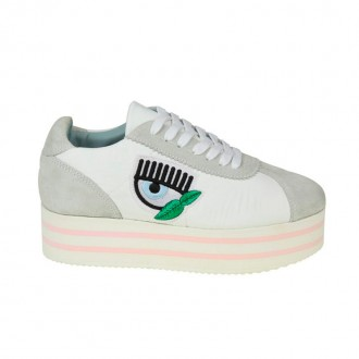 SNEAKERS FLOWER POWER LEATHER WHITE