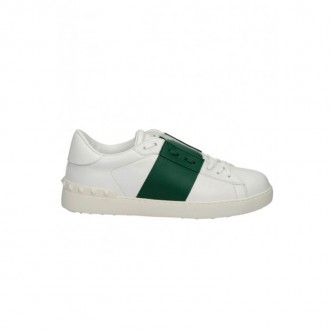 White sneakers calf