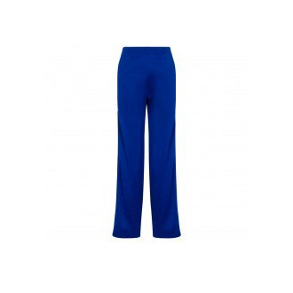 Blue jogging trousers with logo print