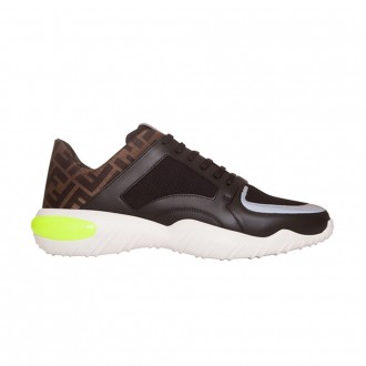 Black Tech Fabric Low-top Sneaker