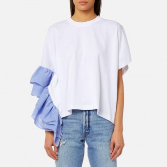 Top with Frill - White