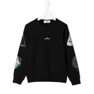 Black Kids Sweatshirt With Prints