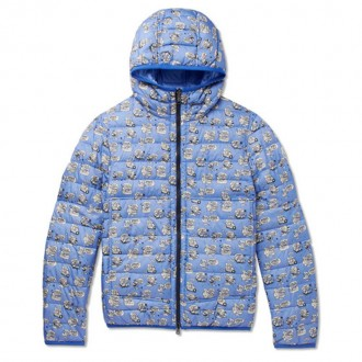 Oise Slim-Fit Reversible Quilted Printed Shell Hooded Down Jacket