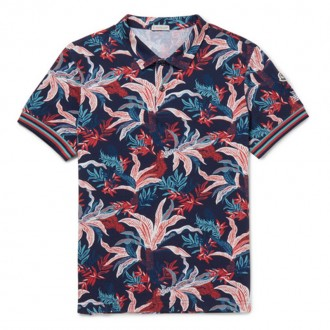Printed Cotton-Piqué Polo Shirt