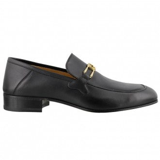 Leather Loafer With Gg Closing Clamp