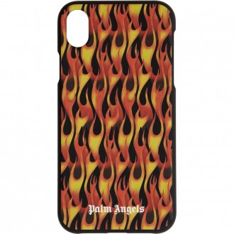 Black & Red Flames iPhone Xr Case