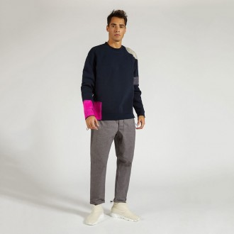 Sweatshirt With Fluo Wool Wrenches