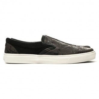 Laser Printed Leather Shoes Black