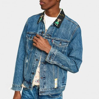 The Trucker Jacket in Hula Collar