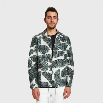 Coaches Jacket in Silver Birch
