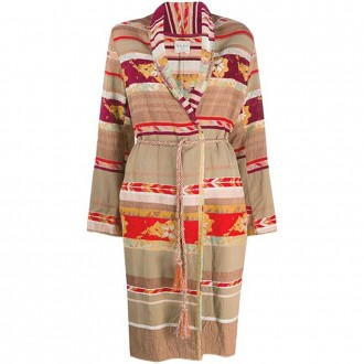 Patchwork Coat In Cotton And Viscose