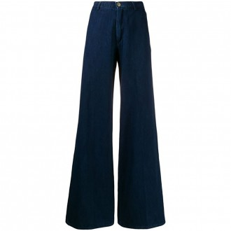 Blue Jeans With Wide Leg