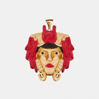 Lucky Red Moor Pendant