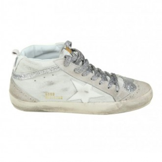 SNEAKERS MID STAR IN WHITE SUEDE