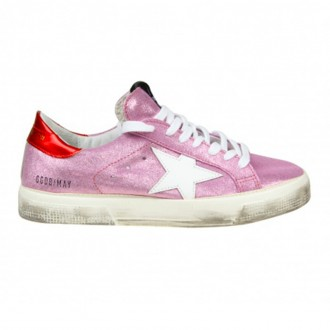 SNEAKERS MAY IN GLITTER PINK SUEDE