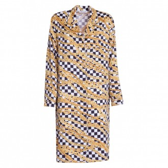 Pajama Dress In Light Satin