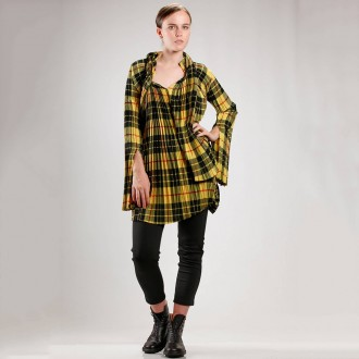 Tunic Shaped Double Braided Shirt