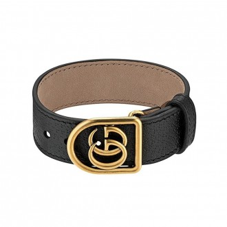 Bracelet In Leather With Double G