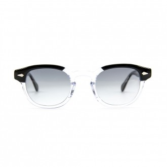 Lemtosh - Black Crystal With Shaded Gray Lenses