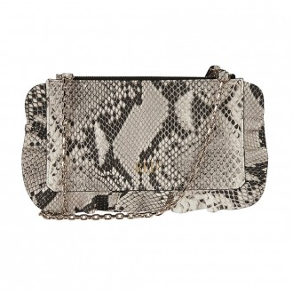 Python-print Leather Bag