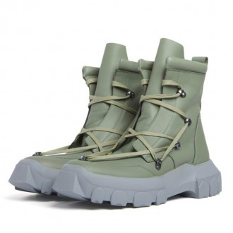Sage Green Hiking Boots