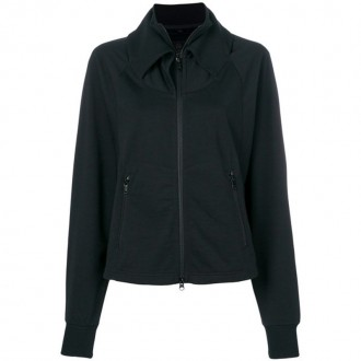 faux-collar zip up
