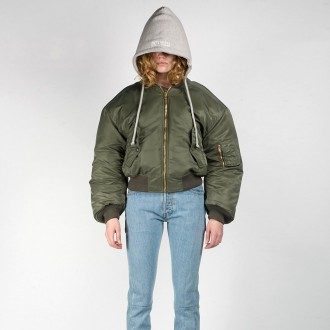 Vetements olive green bomber