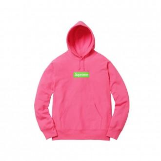 Box Logo Hooded Sweatshirt (Fw17) Magenta