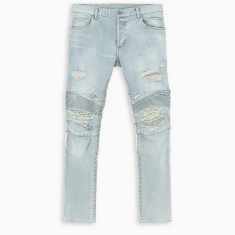 Light Blue Ripped Slim Jeans