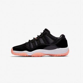 AIR JORDAN 11 RETRO LOW GS - BLACK/BLEACHED CORAL/WHITE
