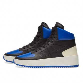 BASKETBALL SNEAKER BLACK & ROYAL