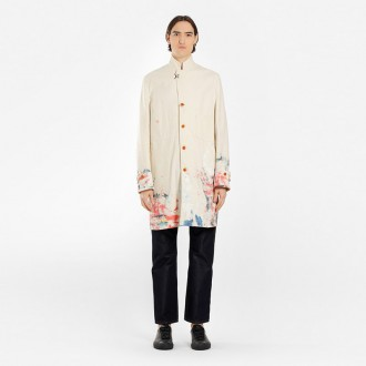 MEN'S OFF-WHITE COTTON CARHARTT COAT WITH PAINTINGS