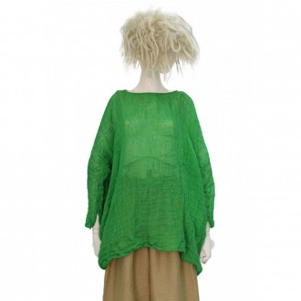 Long Tunic In Green Linen