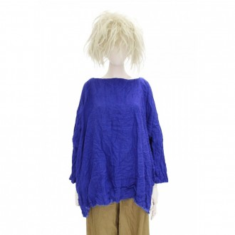 Electric Blue Linen Tunic