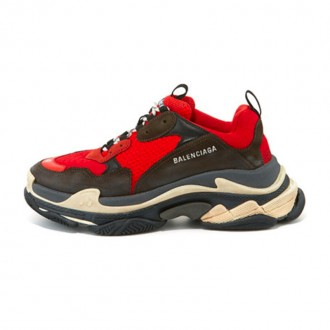 Men's Triple S Mesh & Leather Sneaker, Red