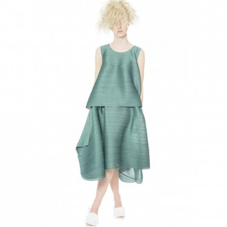 Tunic And Skirt Set In Sage Green