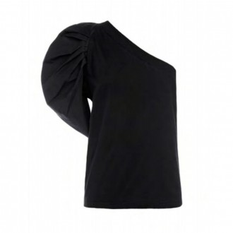 Black One Shoulder Shirt