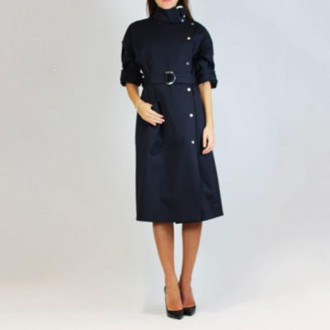 Blue Navy Trench