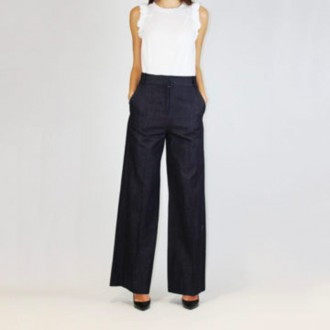 Navy Wide Trousers